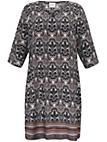 JUNAROSE - Kleid mit 3/4 Arm und V-Ausschnitt