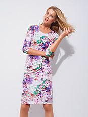 Escada - Jersey-Kleid mit Blten-Print
