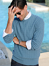 Peter Hahn - Rundhals-Pullover aus reinem Kaschmir