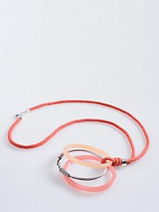 kette mit zwei farbigen Kunststoff-Ringen