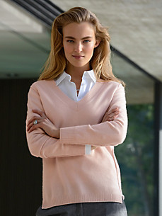 cashmere - V-Pullover aus reinem Kaschmir