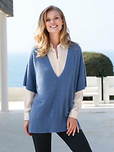 cashmere - V-Pullover in 100% Kaschmir