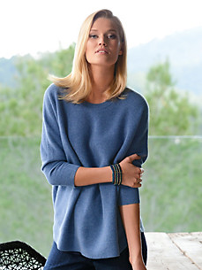 Peter Hahn Cashmere - Oversized-Pullover mit 3/4-Arm