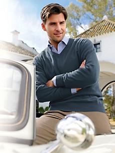 Peter Hahn - V-Pullover in reinem Kaschmir – Modell VALENTIN