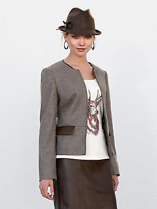 Uta Raasch - Tweed-Jacke mit Rundhals-Ausschnitt