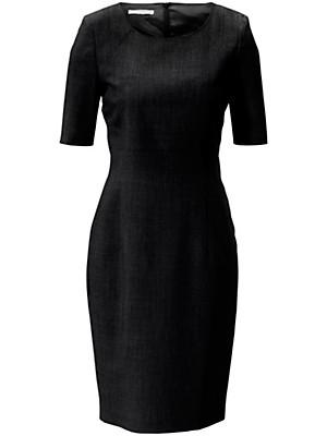 Figurnahes Etui-Kleid in reiner Schurwolle  schwarz
