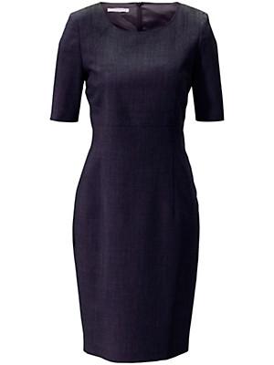 Figurnahes Etui-Kleid in reiner Schurwolle  blau