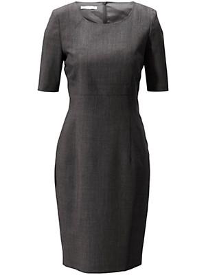 Figurnahes Etui-Kleid in reiner Schurwolle  grau