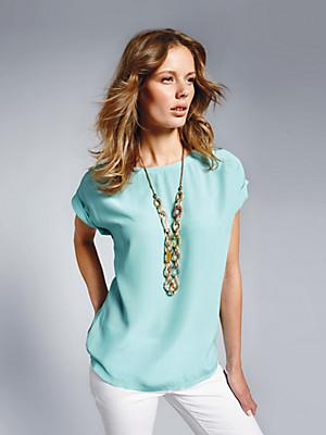 Blusen-Shirt in 100% Seide  grün