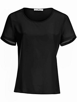 Blusen-Shirt aus 100% Seide  schwarz
