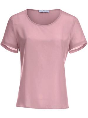 Blusen-Shirt aus 100% Seide  rosé
