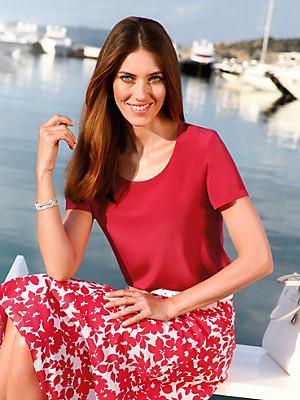 Blusen-Shirt aus 100% Seide  rot