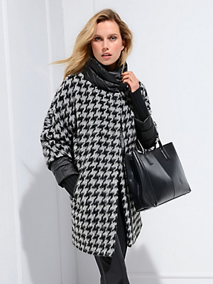 Basler jacke mit kimono optik schwarz hellgrau - Kimono jacke damen ...