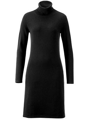 cashmere strickkleid mit rollkragen aus reinem kaschmir schwarz. Black Bedroom Furniture Sets. Home Design Ideas