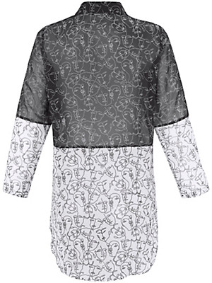 Doris Streich - Long-Bluse in Patch-Optik