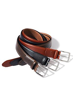 Eurex by Brax - Ledergürtel mit verdecktem Stretch-Einsatz