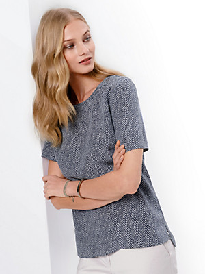 Fadenmeister Berlin - Blusen-Shirt 100% Seide 1/2-Arm