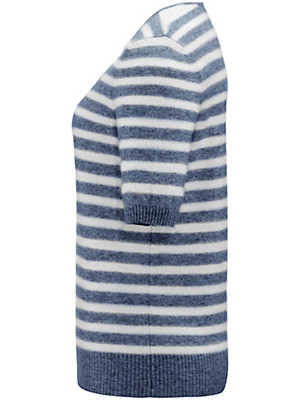 FLUFFY EARS - V-Pullover aus reinem Kaschmir