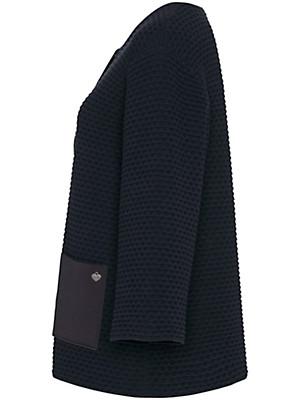 FRAPP - Strickjacke mit 3/4-Arm und aus 100% Baumwolle