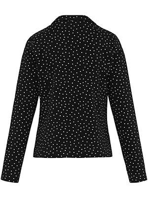 green cotton jersey blazer aus 100 baumwolle schwarz wei. Black Bedroom Furniture Sets. Home Design Ideas