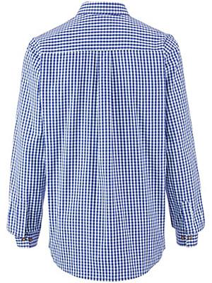 hammerschmid karo hemd mit kent kragen blau wei. Black Bedroom Furniture Sets. Home Design Ideas