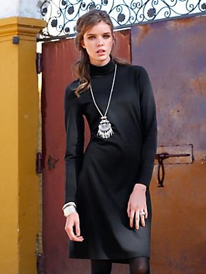 Inkadoro - Jersey-Kleid mit Rollkragen