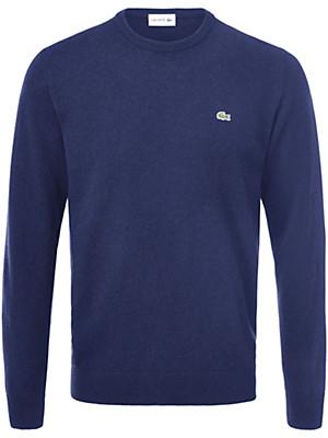 Lacoste - Rundhals-Pullover aus 100% Wolle