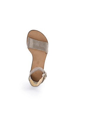 Paul Green - Sandale aus softem Ziegenveloursleder