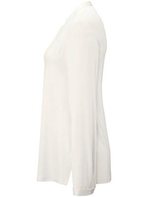 Peter Hahn - Jersey-Bluse mit offenem Stehkragen