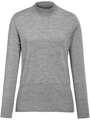 peter hahn pullover mit stehbund kragen grau melange. Black Bedroom Furniture Sets. Home Design Ideas