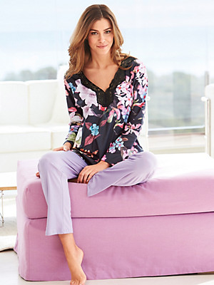 Pill - Schlafanzug aus 100% Baumwolle in V-Ausschnitt