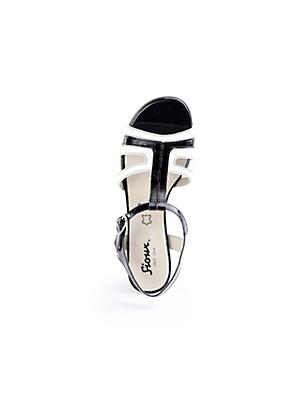 Sioux - Sandale aus zweifarbigem Kalbslackleder