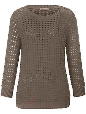 Uta Raasch - Pullover mit dekorativem Lochmuster
