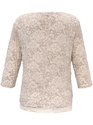 Via Appia Due - Rundhals-Shirt mit 3/4-Arm