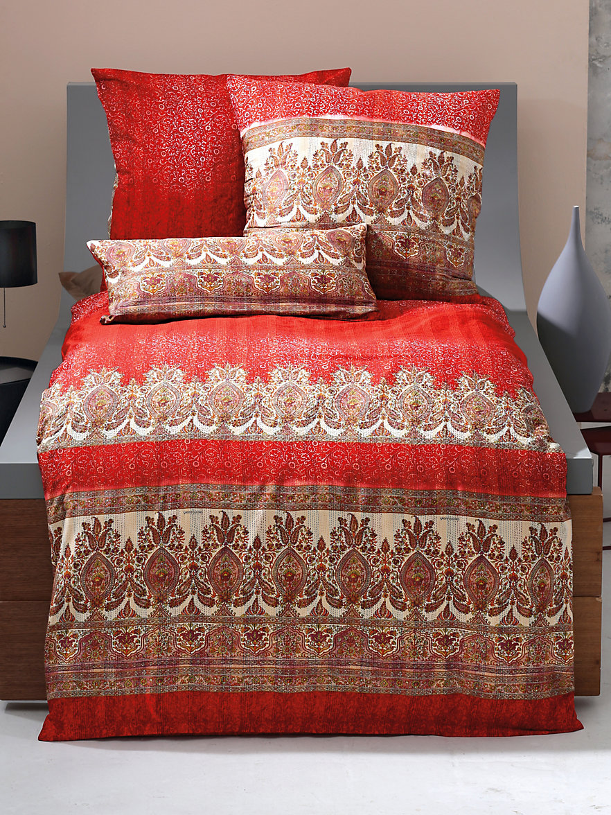 bassetti bettgarnitur saturnia ca 155x220cm rot multicolor. Black Bedroom Furniture Sets. Home Design Ideas