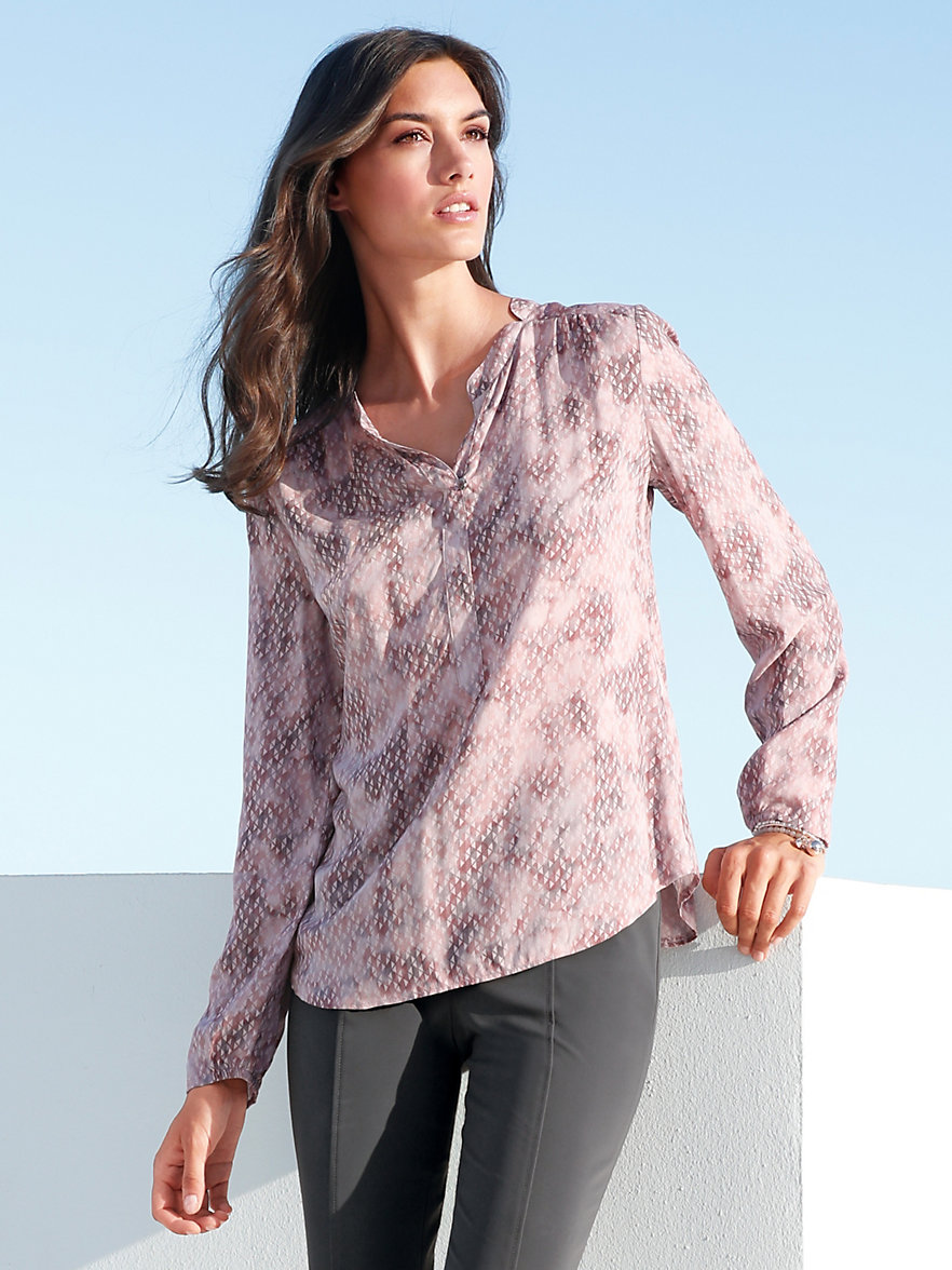 betty barclay bluse im tunika schnitt puder multicolor. Black Bedroom Furniture Sets. Home Design Ideas