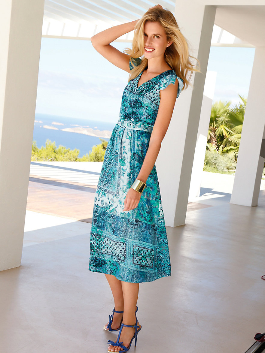 betty barclay kleid aqua multicolor