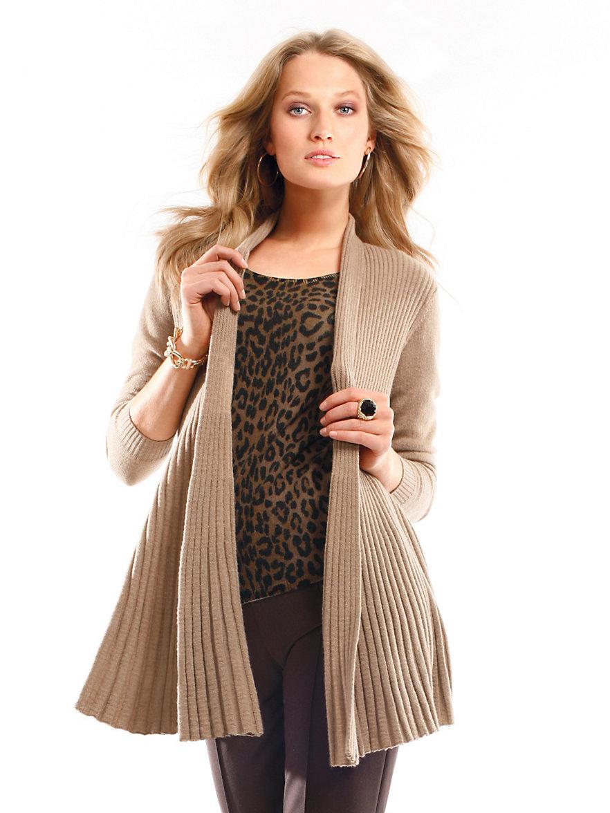 cashmere cardigan aus reinem kaschmir camel melange. Black Bedroom Furniture Sets. Home Design Ideas