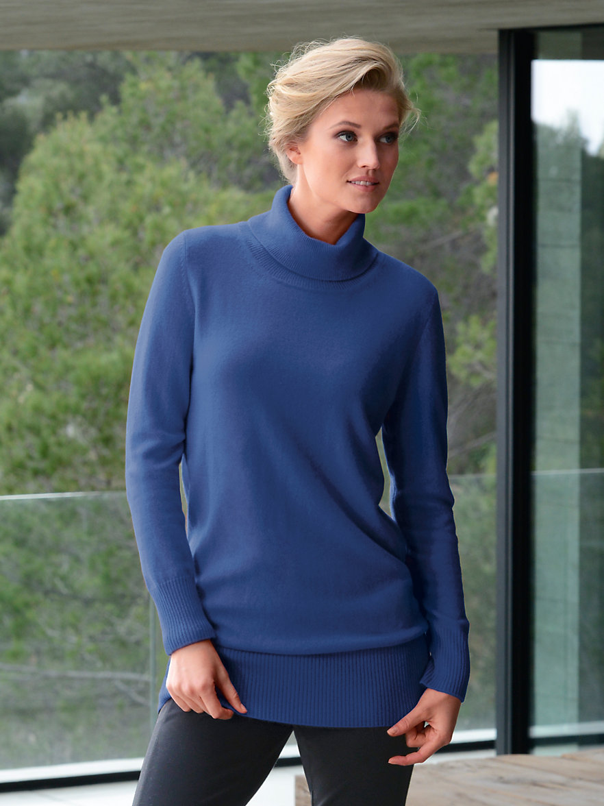 cashmere rollkragen pullover aus reinem kaschmir blau. Black Bedroom Furniture Sets. Home Design Ideas