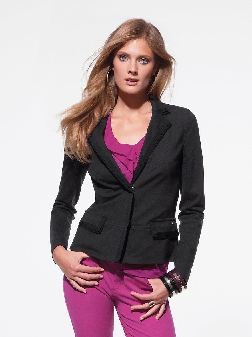 escada sport sportlich eleganter blazer schwarz. Black Bedroom Furniture Sets. Home Design Ideas