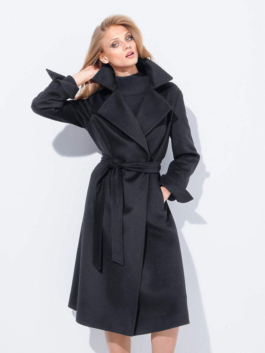 fadenmeister berlin mantel aus reinem kaschmir schwarz. Black Bedroom Furniture Sets. Home Design Ideas