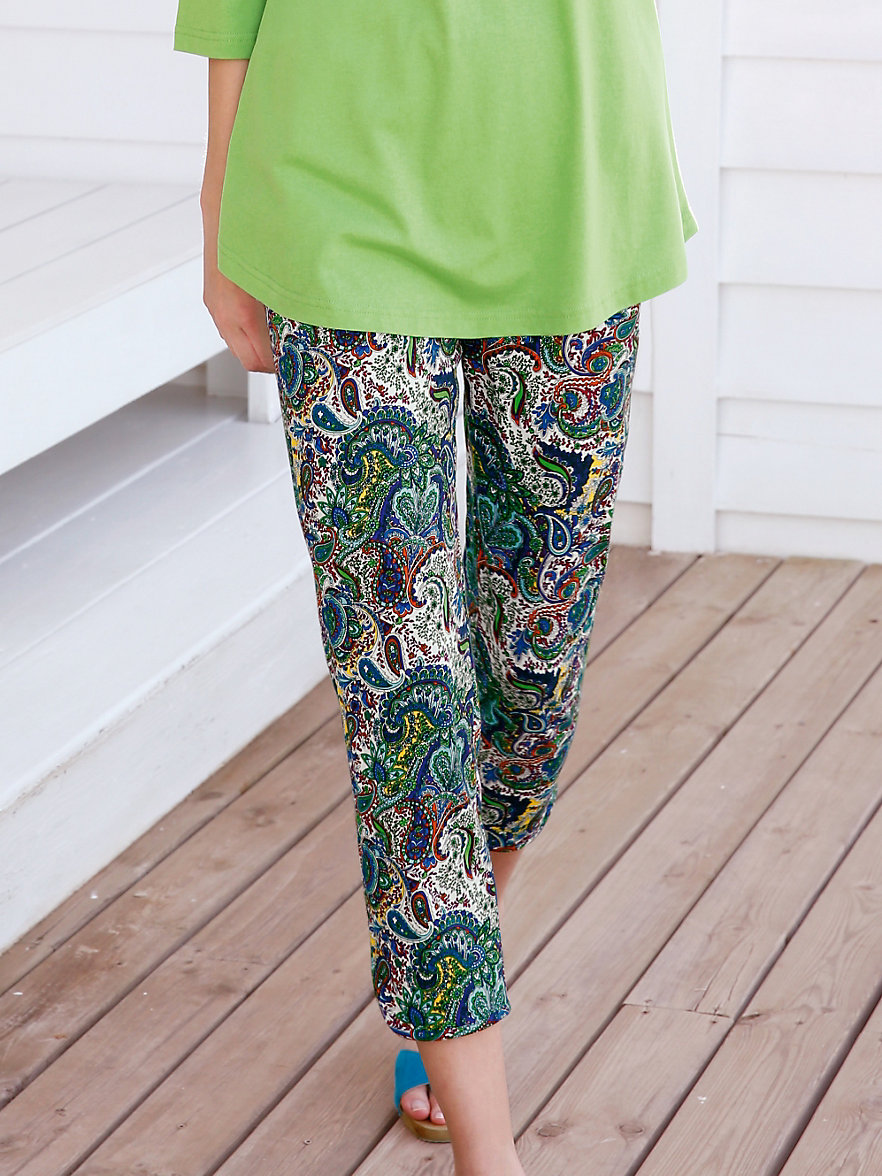 green cotton 7 8 schlupfhose aus 100 baumwolle multicolor. Black Bedroom Furniture Sets. Home Design Ideas