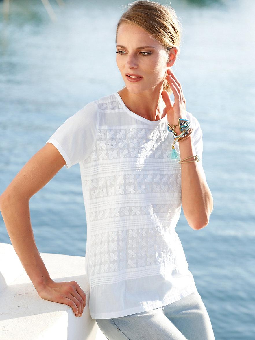 just white blusen shirt mit 1 2 arm wei. Black Bedroom Furniture Sets. Home Design Ideas
