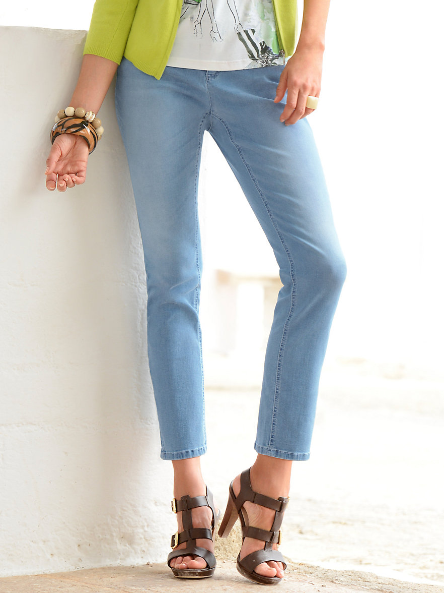 looxent 7 8 jeans light blue denim. Black Bedroom Furniture Sets. Home Design Ideas