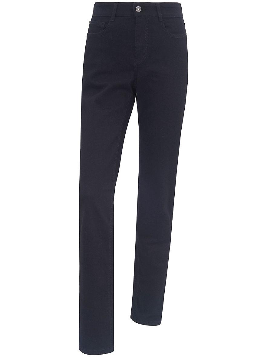 mac jeans angela mit bequemer taille inch l nge 30 schwarz denim. Black Bedroom Furniture Sets. Home Design Ideas