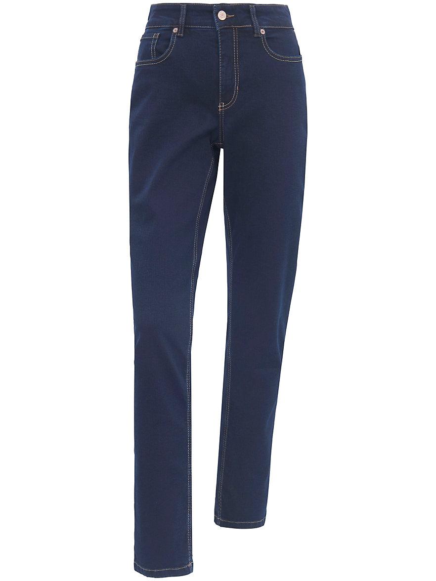 mac jeans melanie mit schmaler taille inch l nge 32 dark blue denim. Black Bedroom Furniture Sets. Home Design Ideas