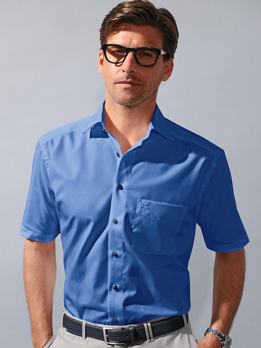 olymp luxor b gelfreies hemd comfort fit enzianblau. Black Bedroom Furniture Sets. Home Design Ideas