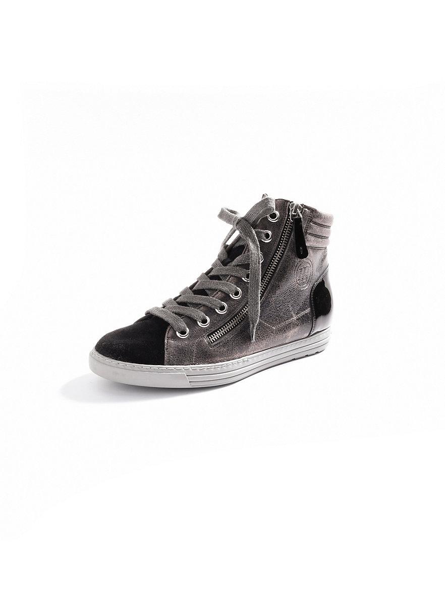 paul green kn chelhoher sneaker anthrazit metallic schwarz. Black Bedroom Furniture Sets. Home Design Ideas