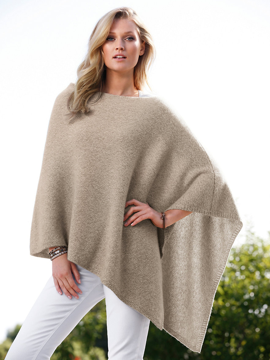 peter hahn cashmere nature poncho aus reinem kaschmir natur taupe dunkeltaupe. Black Bedroom Furniture Sets. Home Design Ideas