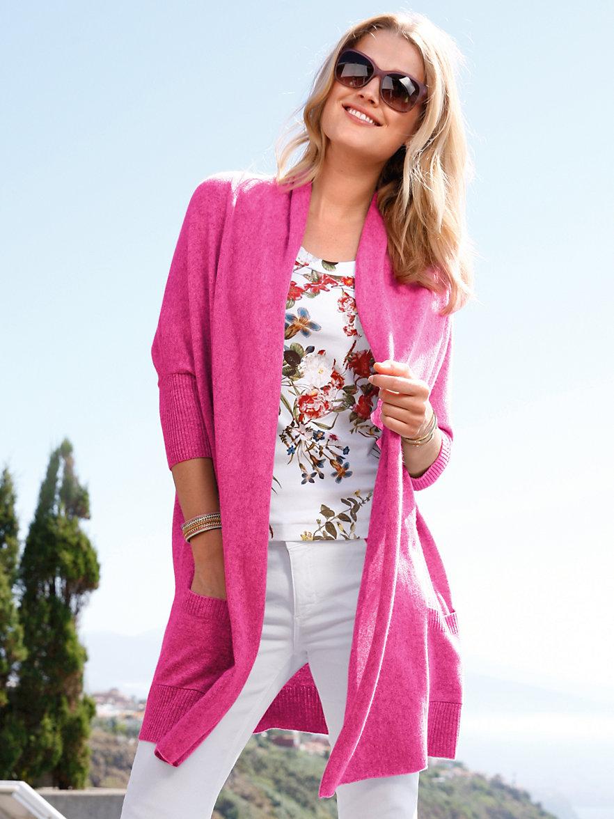 peter hahn cashmere strickjacke aus reinem kaschmir pink. Black Bedroom Furniture Sets. Home Design Ideas